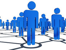 Connection people Stock Images