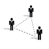 Connection people icon illustration. Black silhouette Royalty Free Stock Images