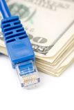Connection Plug and dollars Royalty Free Stock Image