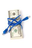Connection Plug and dollars Royalty Free Stock Photos