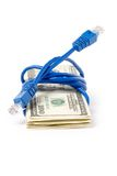 Connection Plug and dollars Stock Photo