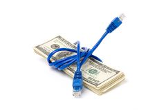 Connection Plug and dollars Royalty Free Stock Photography