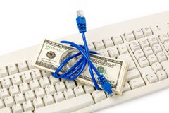 Connection Plug and dollars Royalty Free Stock Photo