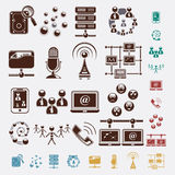 Connection set of icons Royalty Free Stock Photos