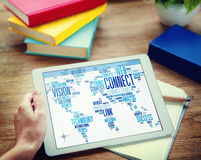 Connection Social Media Internet Link Networking Concept Stock Photos