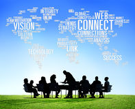 Connection Social Media Internet Link Networking Concept Royalty Free Stock Photography