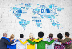 Connection Social Media Internet Link Networking Concept Stock Photography