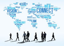Connection Social Media Internet Link Networking Concept Stock Photo