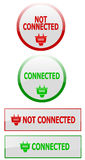 Connection status internet buttons Stock Image