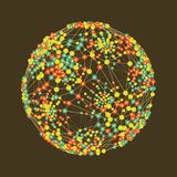 Connection Structure. Abstract Globe Grid. Sphere Illustration. Technology Concept. Vector Illustration Royalty Free Stock Photography