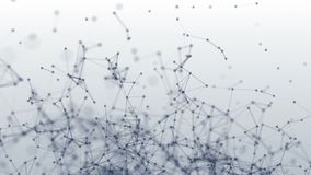 Connection structure. Dots and lines. 3d animation. Abstract background royalty free stock image