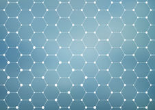 Connection structure. Geometric abstract background. Medicine, science and technology. Vector illustration for your Royalty Free Stock Photo