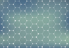 Connection structure. Geometric abstract background. Medicine, science and technology. Vector illustration for your. Design Royalty Free Stock Images