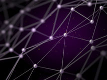 Connection structure wireframe network nanotechnology. Royalty Free Stock Photo