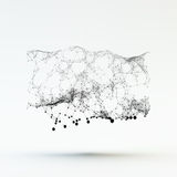 Connection Structure. Wireframe Vector Illustration Royalty Free Stock Photo
