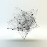Connection Structure. Wireframe Vector Illustration. Connection Structure. Wireframe Vector Illustration Royalty Free Stock Photography