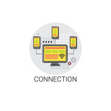 Connection Sync Synchronize Internet Cloud Technology Icon Royalty Free Stock Photos