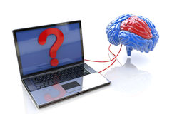 Connection to the brain. When you make information related to the issues of the Internet and the mind Royalty Free Stock Images