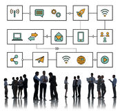 Connection Wireless Online Transmission Transfer Concept Royalty Free Stock Image