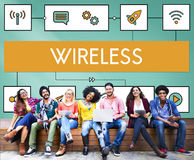 Connection Wireless Online Transmission Transfer Concept Stock Photography