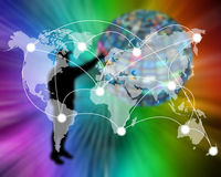 Connection of the world Stock Photography