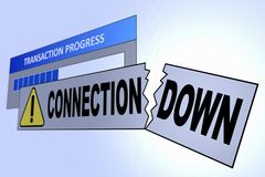 ConnectionDown royalty free stock photography
