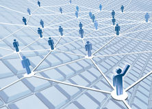 Connections. A computer generated image representing the concept of intercommunication and connection Stock Image