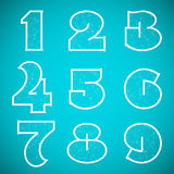 Connections Alphabet Vector Font Set 4 Numbers 1 Stock Image