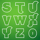 Connections Alphabet Vector Font Set 3 S to Z Stock Photo
