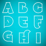 Connections Alphabet Vector Font Set 1 A to I Royalty Free Stock Photos