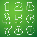 Connections Alphabet Vector Font Set 4 1 to 9 Royalty Free Stock Photos