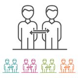 Connections Business People icons in thin line Style and flat Design. Eps10 Vector Royalty Free Stock Image