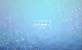 Connections concept. Vector network background for business presentation. Eps10. Abstract polygonal space low poly dark background. With connecting dots and vector illustration