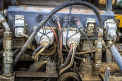 Connections of an old engine Royalty Free Stock Photography