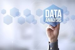 Connections pen touch data analysis Stock Photo