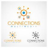 Connections Symbol. Connections multimedia logo template royalty free illustration