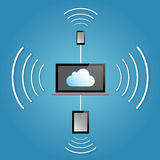 Connectivité de nuage Images libres de droits