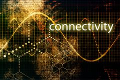 Connectivity. Abstract Technology Business Concept Wallpaper Background vector illustration
