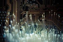 connectivity Cabos de fibra ótica, conexão da fibra, telecomunicat imagens de stock royalty free