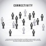 Connectivity. Design over gray background vector illustration stock illustration