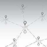 Connectivity design over gray background vector. Light design background Stock Photo