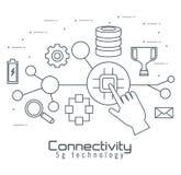 Connectivity 5g technology icons. Vector illustration design stock illustration