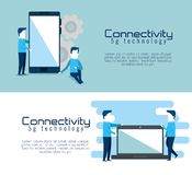 Connectivity 5g technology icons. Vector illustration design royalty free illustration