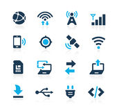 Connectivity Icons Azure Series. Vector icons for your digital or print projects Royalty Free Stock Photos