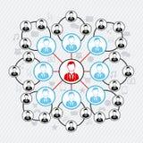 Connectivity. People over communication icon illustration royalty free illustration