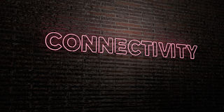 CONNECTIVITY -Realistic Neon Sign on Brick Wall background - 3D rendered royalty free stock image Stock Photos