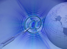 Connectivity and targets. A blue internet / e-commerce related design. Can be used as a background too Royalty Free Stock Photo