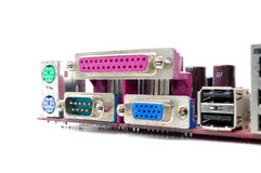 Connector of computer motherboard Royalty Free Stock Photography