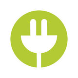 Connector energy ecology isolated icon Royalty Free Stock Images