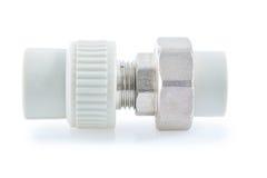 Connector polypropylene tubes Royalty Free Stock Photo